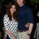 Alex with his girlfriend Shama Sikander