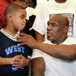 Mike Tyson with his son Amir