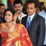 Tina Ambani with her husband Anil Ambani