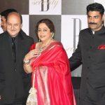 Anupam Kher with wife Kirron Kher & step son Sikandar Kher