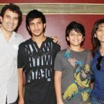 Archana Puran Singh with her husband and children