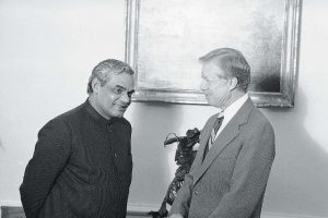Atal Bihari Vajpayee With Jimmy Carter
