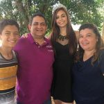 Brenda Jimenez With Her Mother Father & Brother