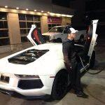 Canelo with his Lamborghini