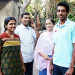Dhawal Kulkarni with his parents and sister