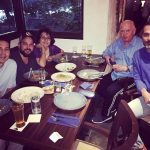 Dino Morea with parents and brothers
