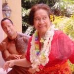 Dwayne Johnson with his Grandmother