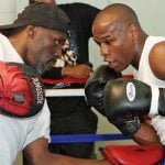 Floyd Mayweather with his uncle Roger