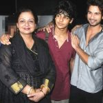 Ishaan Khattar With His Mother And Half-Brother