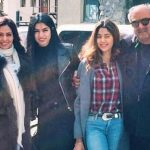Jhanvi Kapoor with her parents and sister Khushi Kapoor