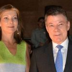 Juan Manuel Santos with his current wife