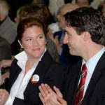 Justin Trudeau with his sister Alicia Kemper