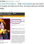 Kailash Kher Tweet for TOI