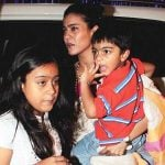Kajol with her children