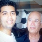 Karan Johar with his father