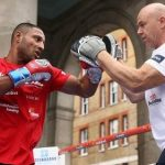 Kell Brook with his trainer Dominic