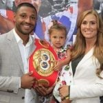 Kell Brook with his partner and daughter