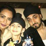 Manj Musik with wife Nindy Kaur and son Anoop