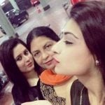 Nikita Sharma with her mother and sister