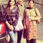 Nikita Sharma with her parents