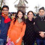 Nitibha Kaul with her family