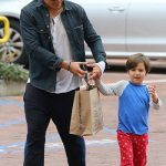Orlando with his son Flynn Christopher Bloom