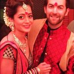Rukmini Sahay with her husband Neil Nitin Mukesh