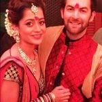 Rukmini Sahay with her husband Neil Nitin Mukesh