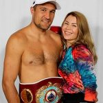 Sergey with his wife Natalya Kovaleva