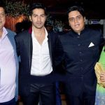 David Dhawan with his wife Karuna and sons Rohit and Varun