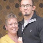 Adrian Neville with mother Jill