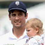 Alastair cook with his elder daughter Elsie