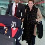 Alastair cook with wife Alice Hunt