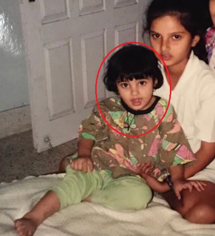 Anam Mirza's Childhood Photo With Sania Mirza