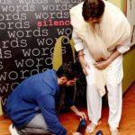 Angad Bedi with his idol Amitabh Bachchan