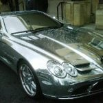 Arjun Rampal Mercedes SLR Mclaren chrome plated