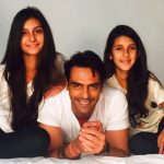 Mehr Jesia's daughters with her Ex- husband Arjun Rampal