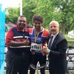 Arya gold medal in cycle racing