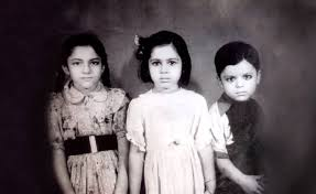 Childhood photo of Arun Jaitley and his sisters