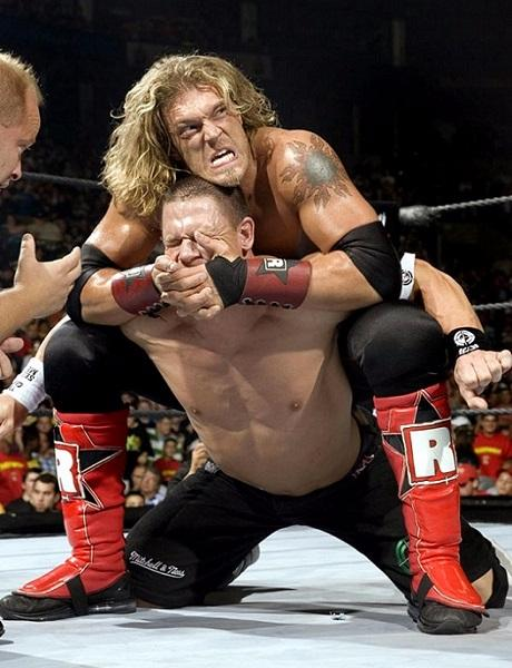 Edge fighting in WWE