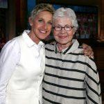 Ellen DeGeneres with her mother