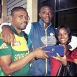 Kagiso Rabada with Parents
