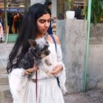 Khushi Kapoor, a dog lover