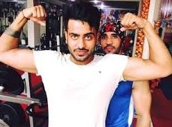 Mankirt Aulakh during his workout
