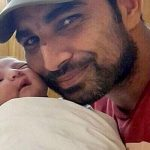 Hasin Jahan husband Mohammed Shami with their daughter Airah Shami