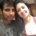 Hasin Jahan with her husband Mohammed Shami