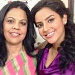 Priya Anand with her mother