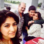 Roshini Prakash with her family