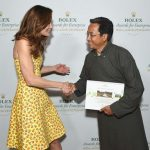 Sonam Wangchuk receiving Rolex 2016 Entreprise award