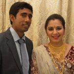 Wriddhiman Saha with wife